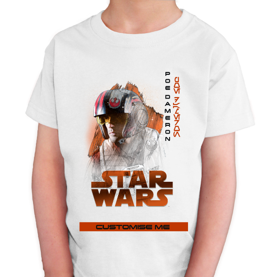 Star Wars Poe Dameron Last Jedi Spray Paint Kids T-shirt