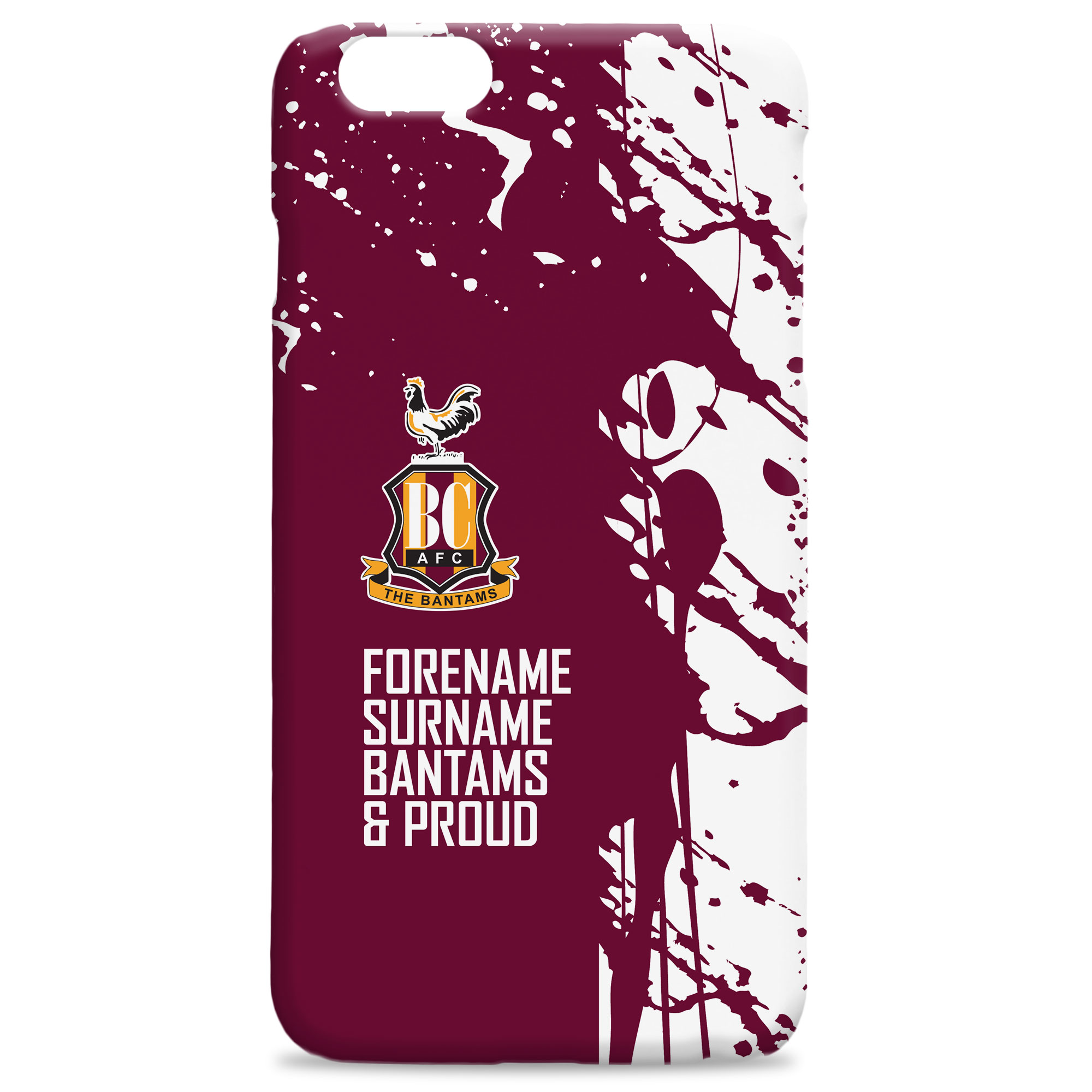 Bradford City AFC Proud Hard Back Phone Case