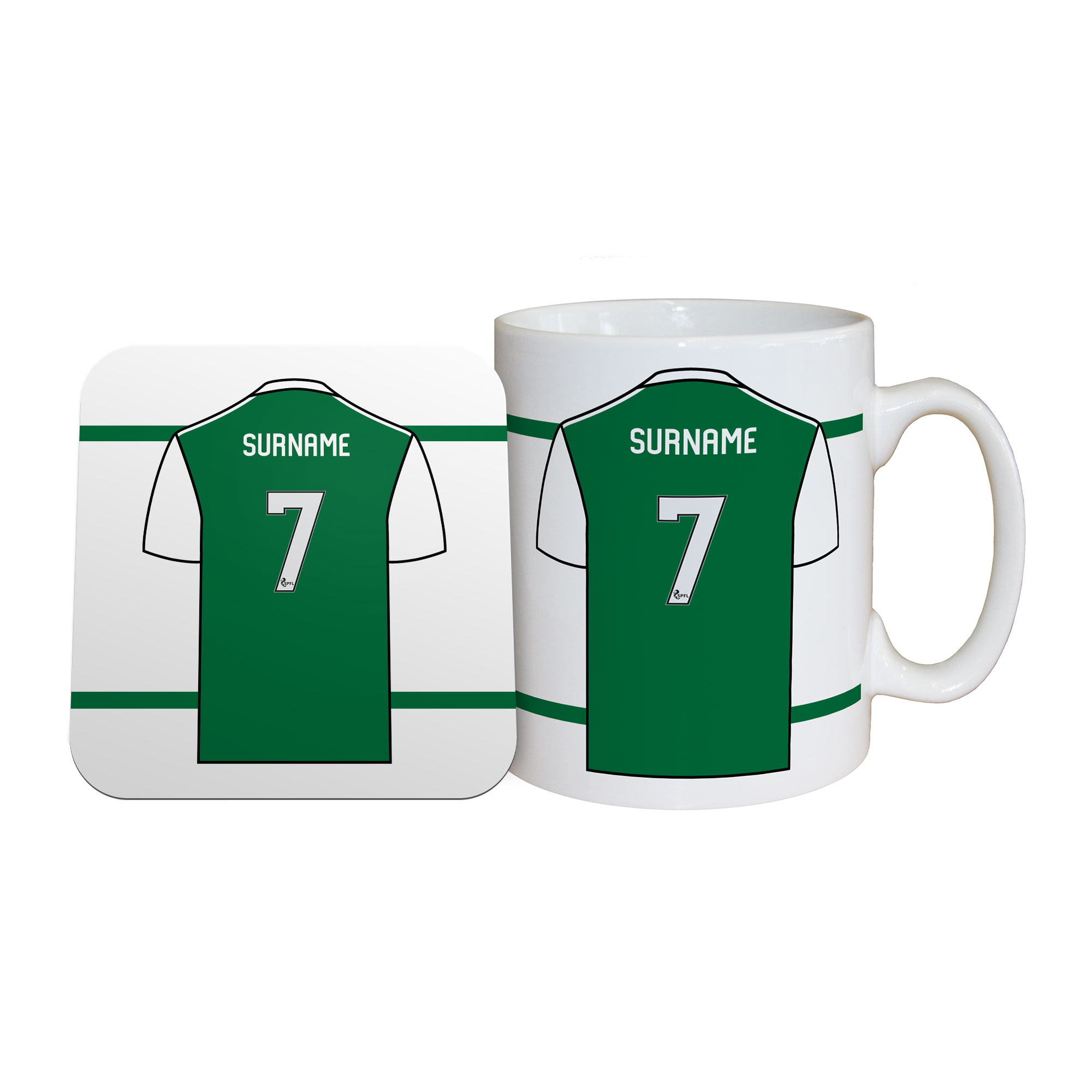 Hibernian FC Shirt Mug & Coaster Set