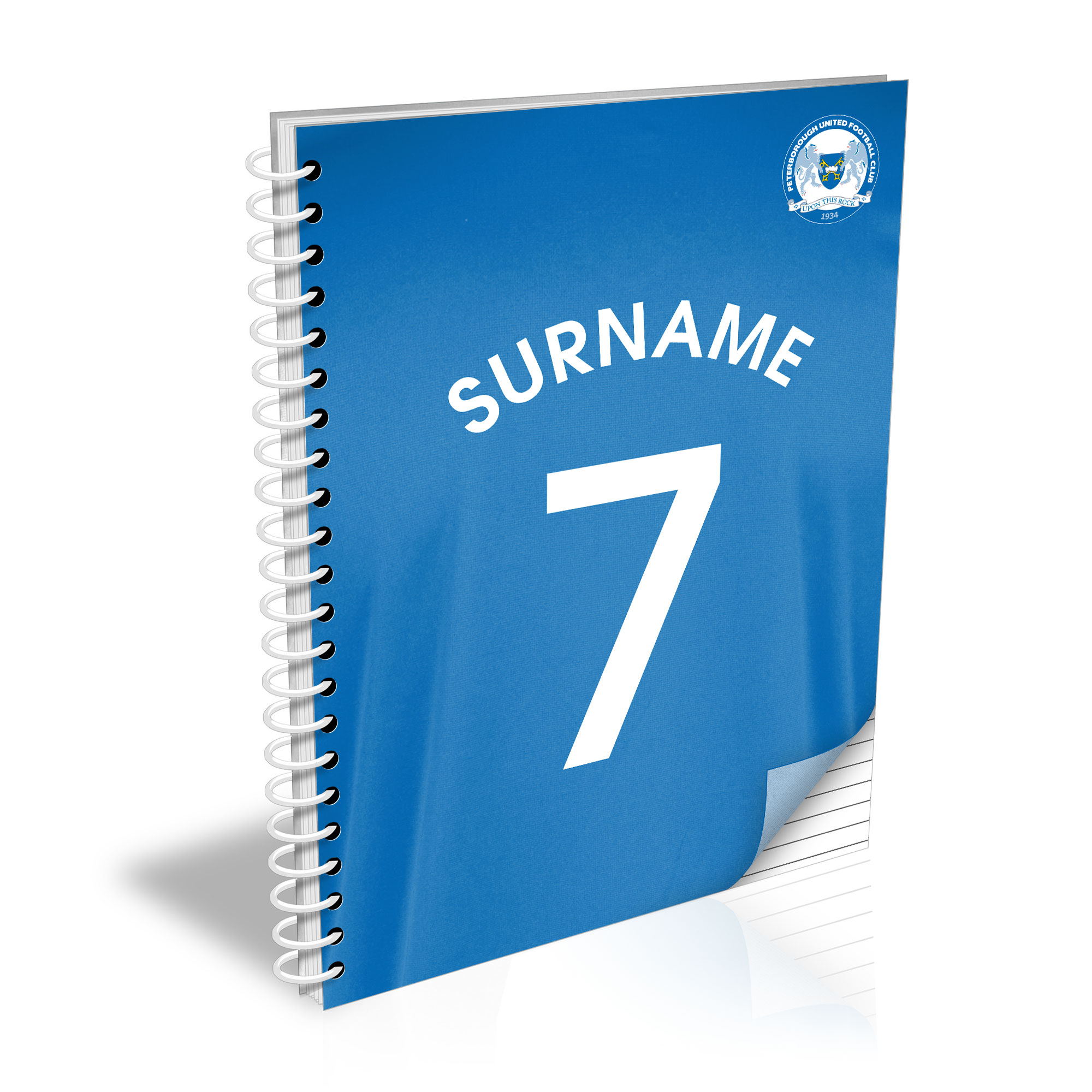 Peterborough United FC Shirt Notebook