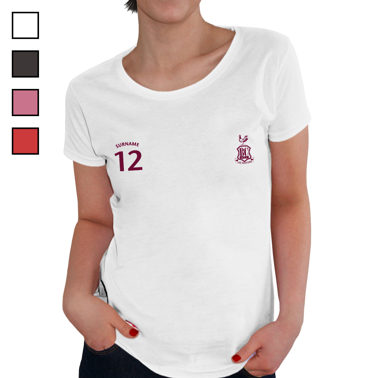 Bradford City AFC Ladies Sports T-Shirt