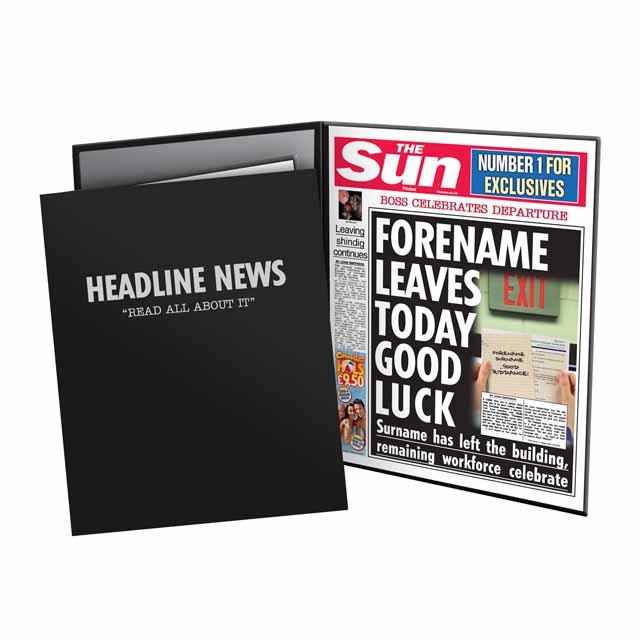 The Sun Leaving News Folder - Male