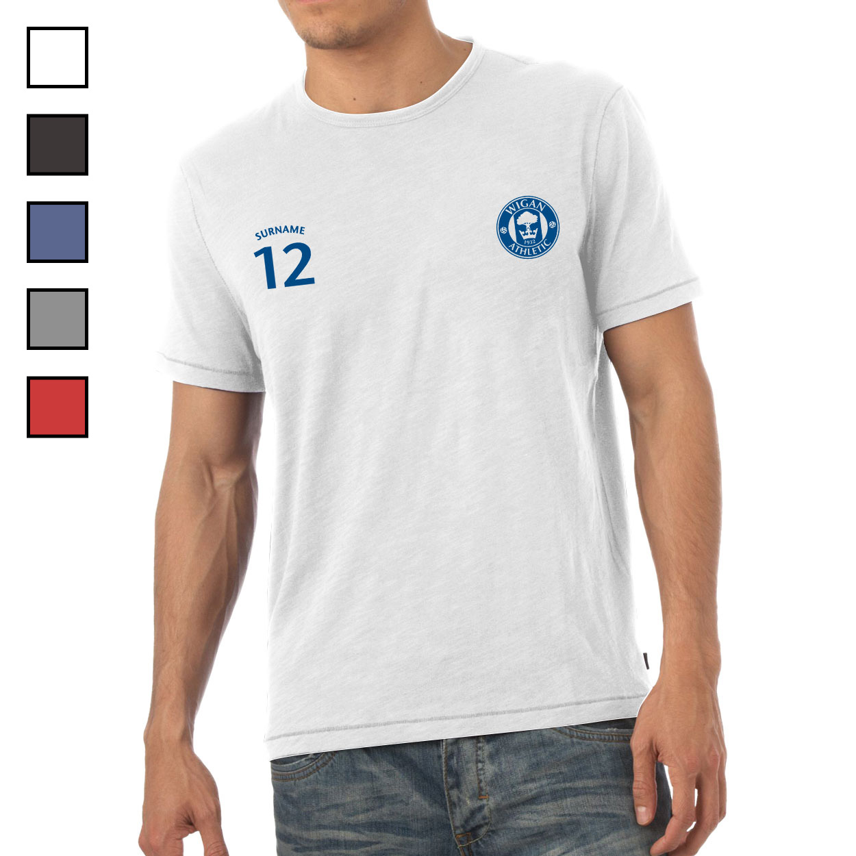 Wigan Athletic FC Mens Sports T-Shirt