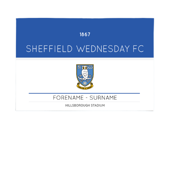 Sheffield Wednesday FC Minimal Ticket 6ft x 4ft Banner