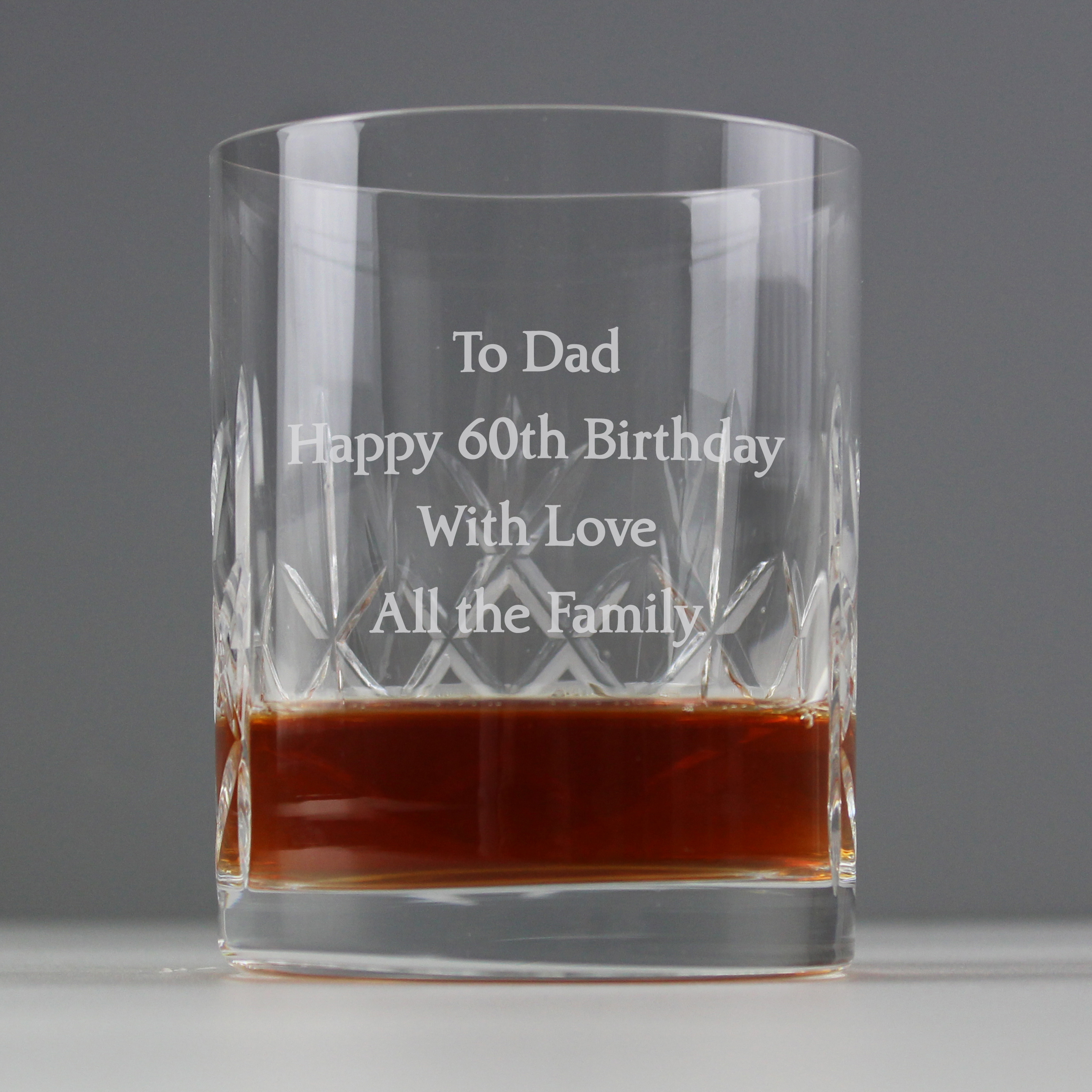 Engraved Crystal Whisky Tumbler