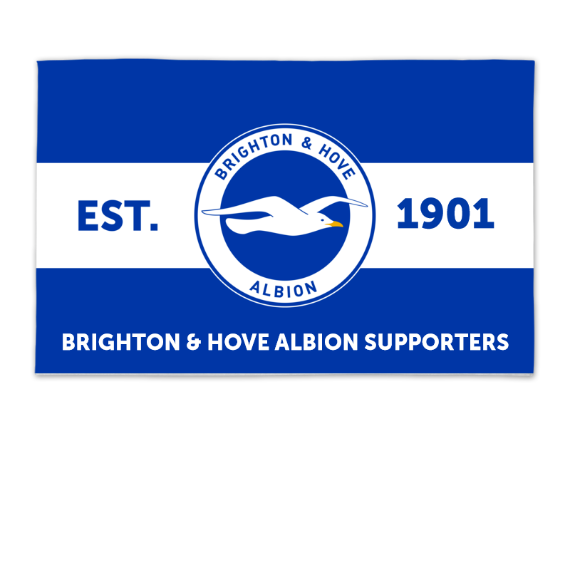 Brighton & Hove Albion FC Supporters 8ft x 5ft Banner