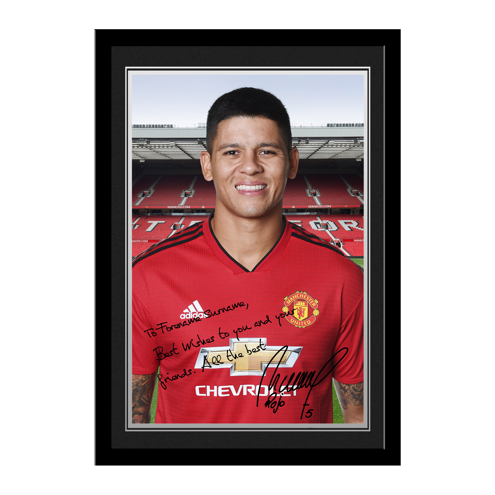Manchester United FC Rojo Autograph Photo Framed