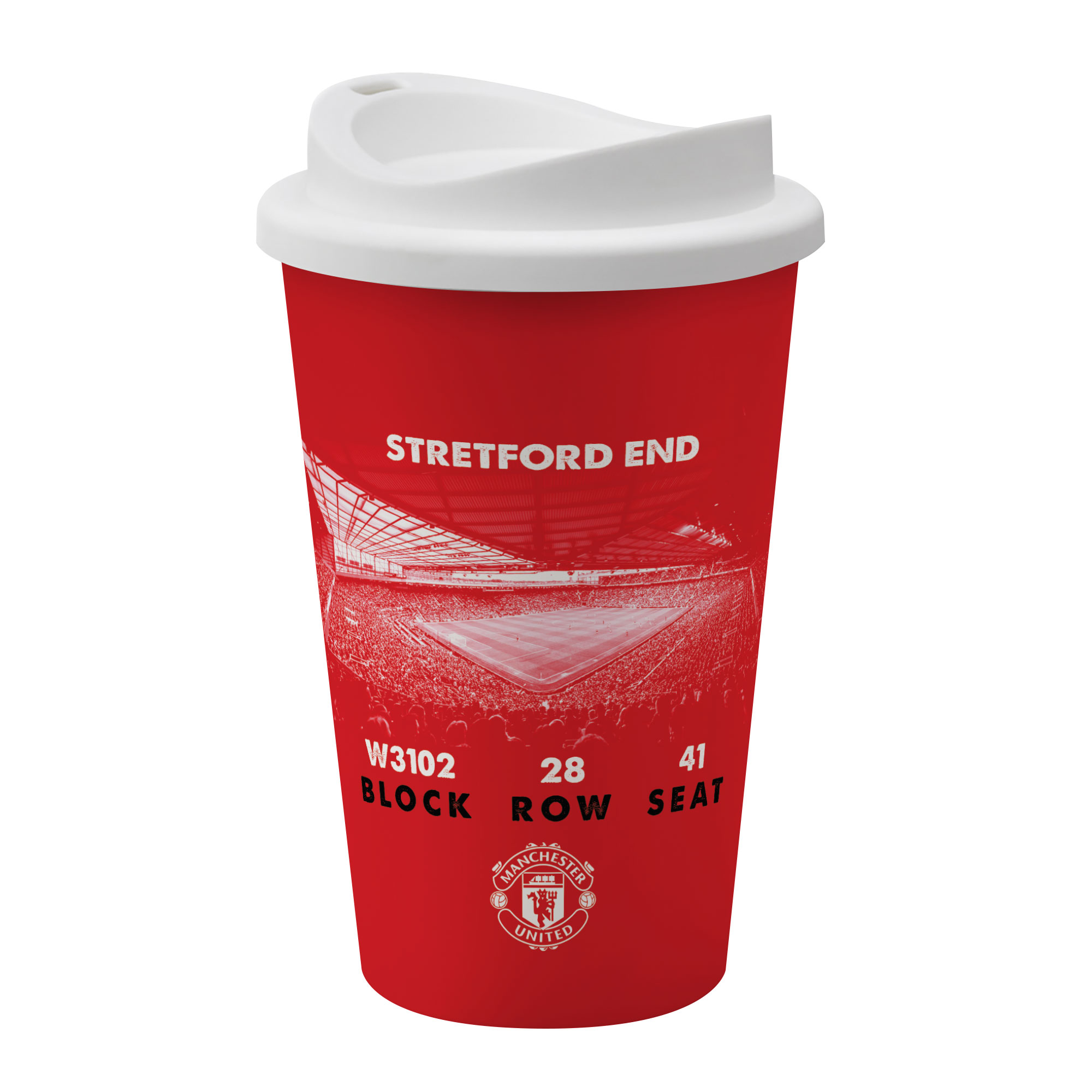 Manchester United FC My Seat in Old Trafford Reusable Cup