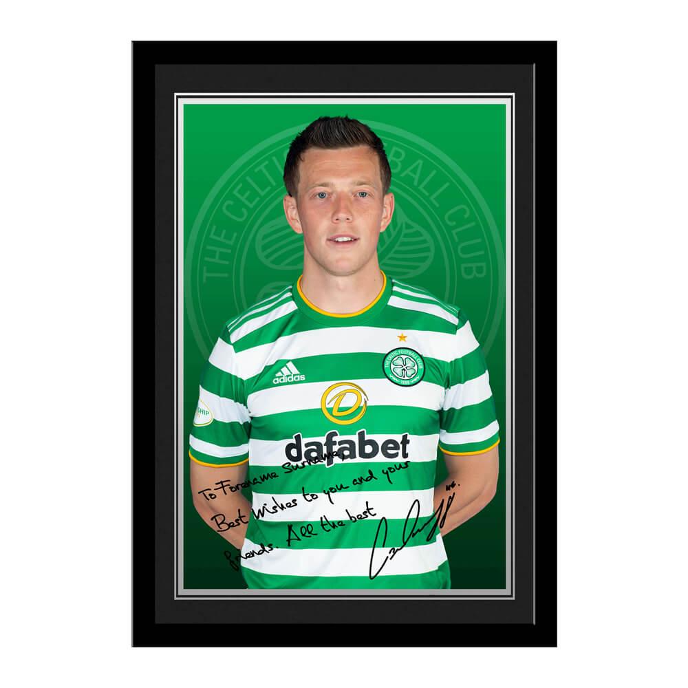 Celtic FC McGregor Autograph Photo Framed