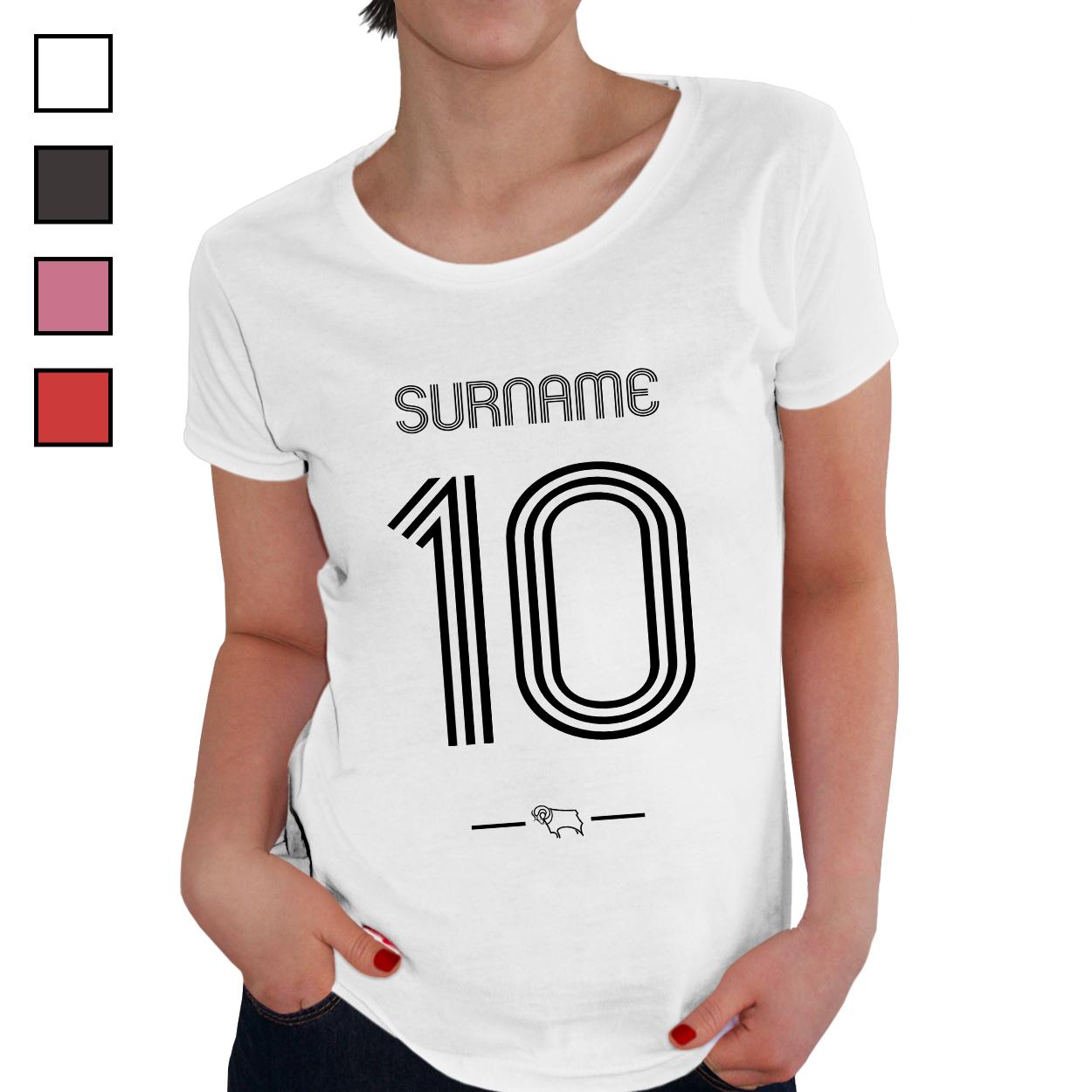 Derby County Retro Shirt Ladies T-Shirt