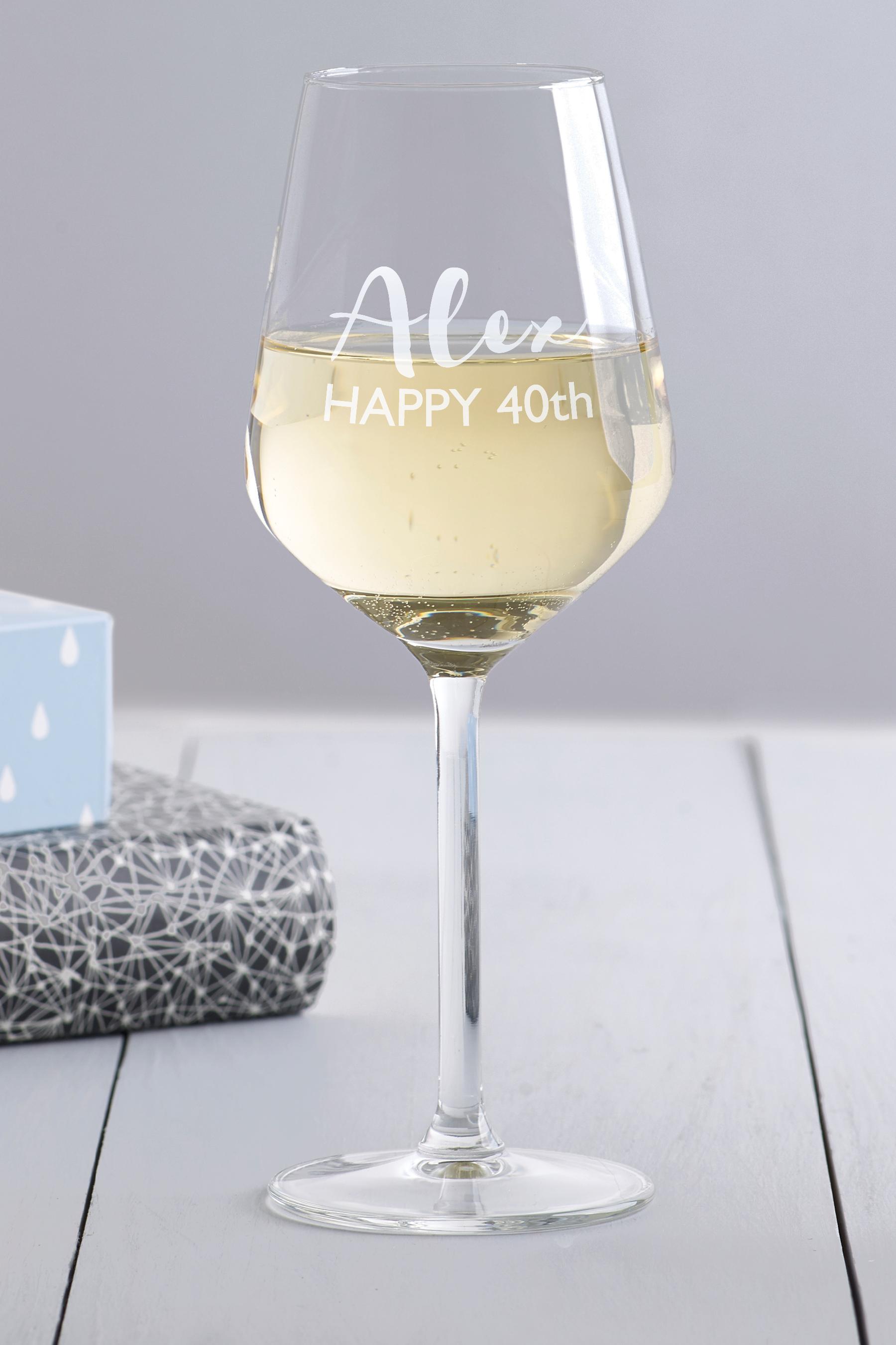 Name Wine Glass