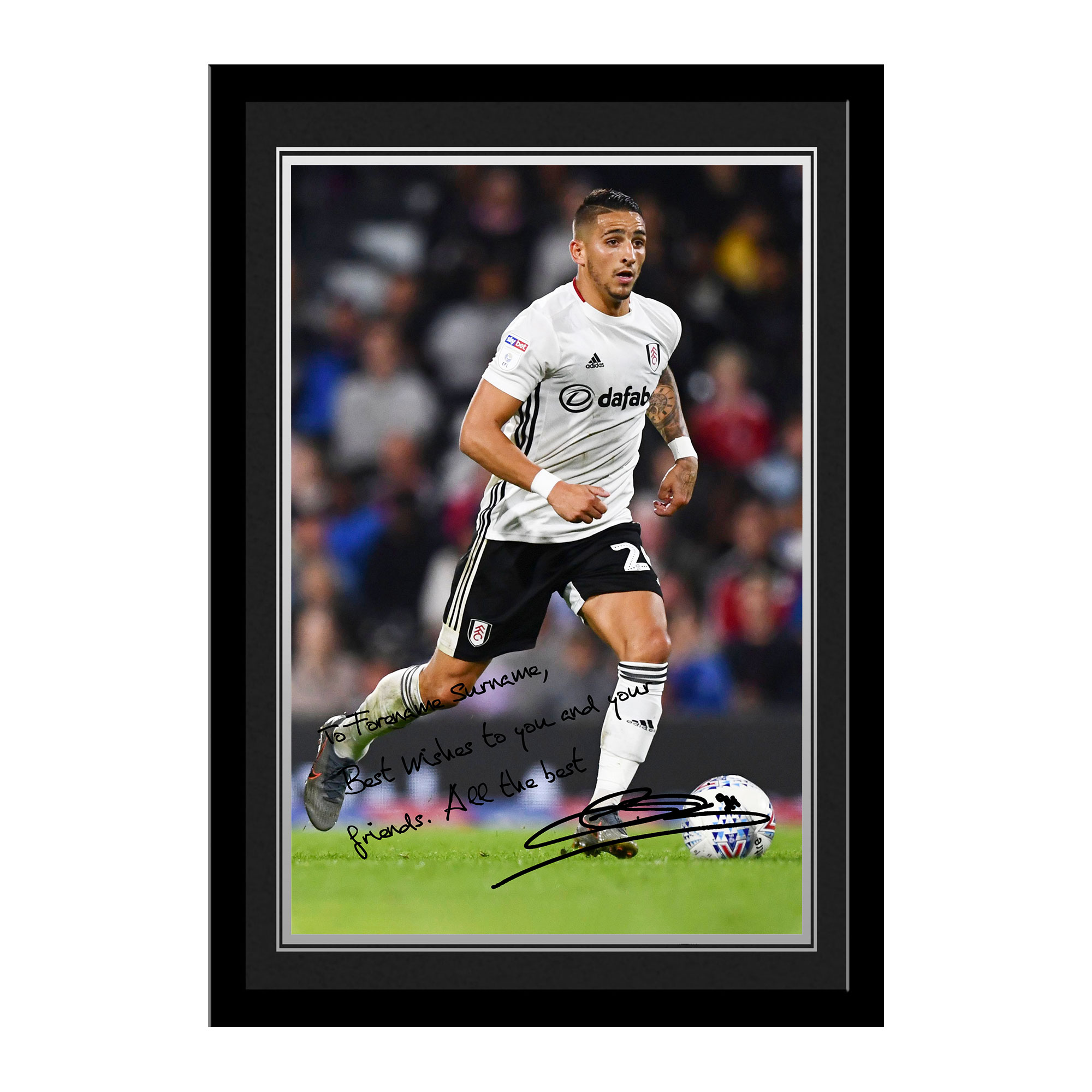 Fulham FC Knockaert Autograph Photo Framed
