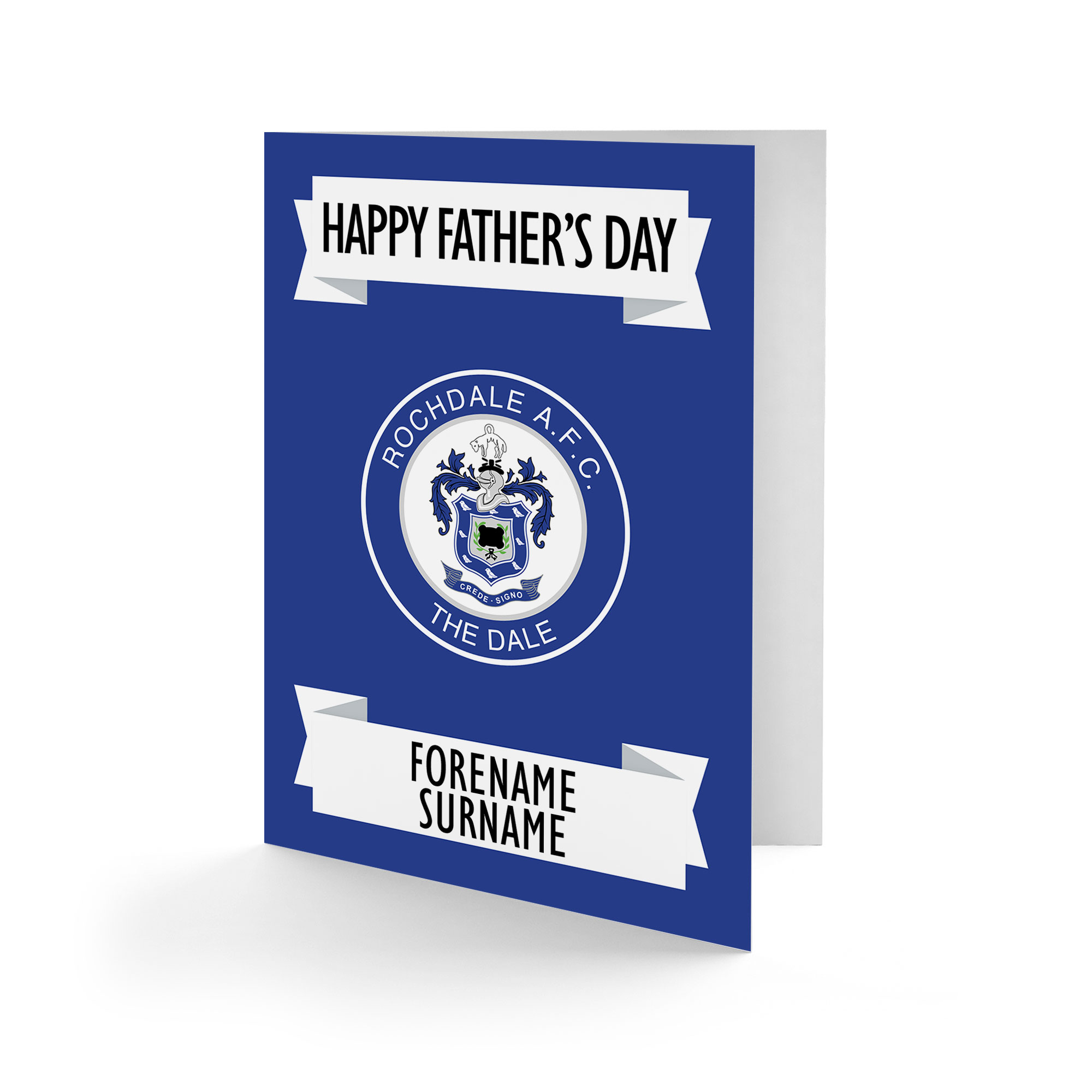 Rochdale AFC Crest Father's Day Card