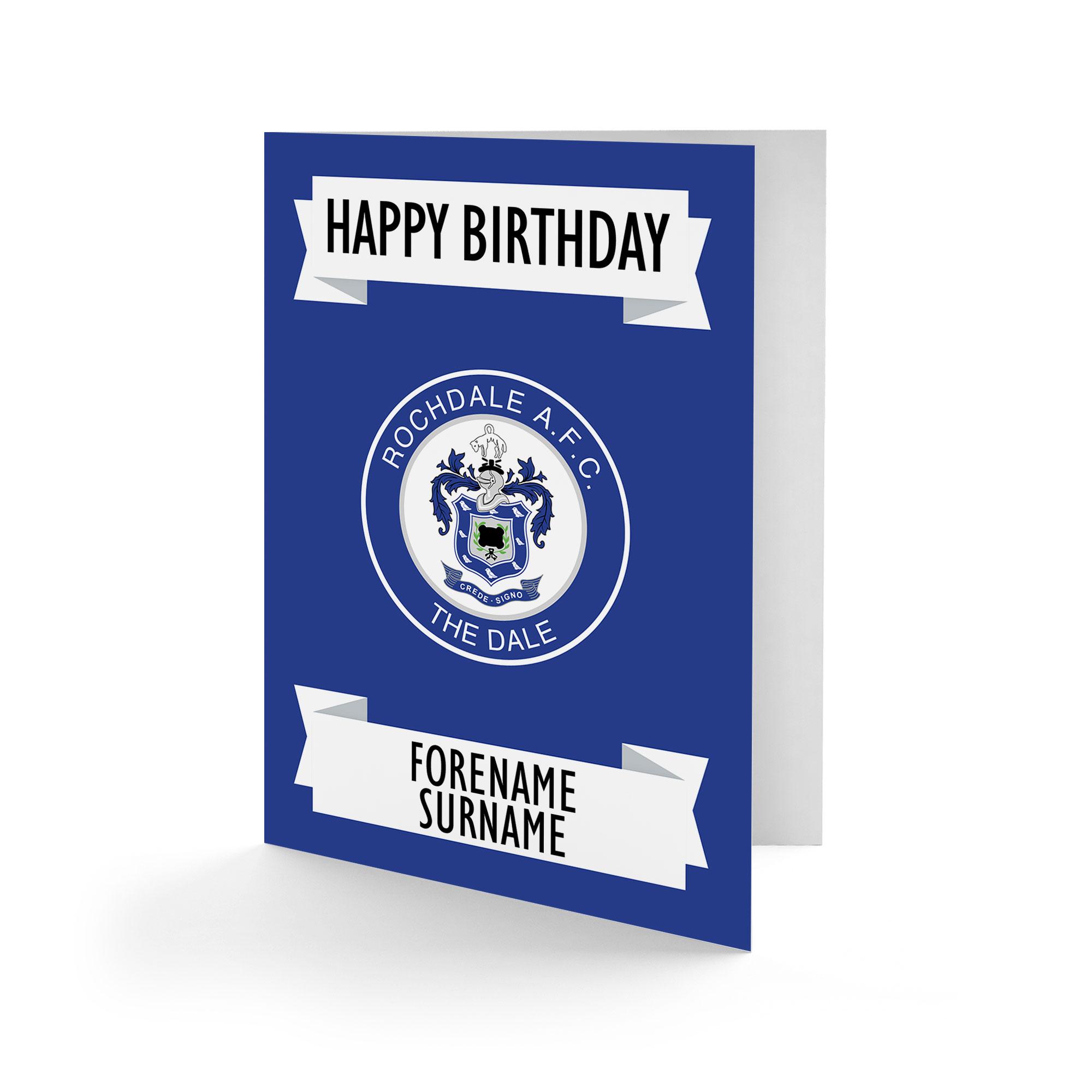 Rochdale AFC Crest Birthday Card