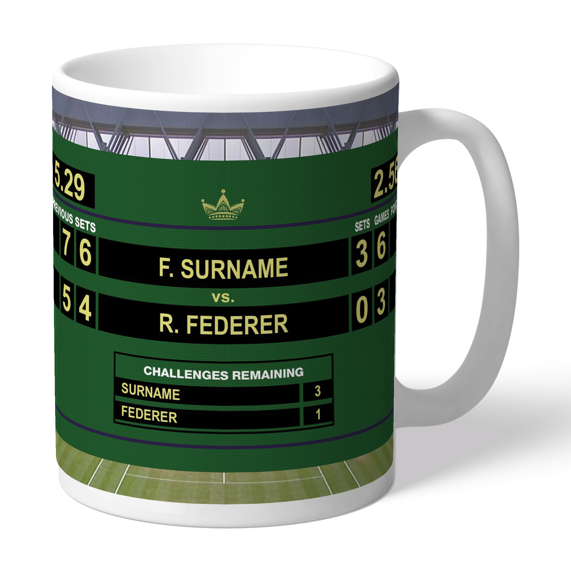 Personalised Male Tennis Mug