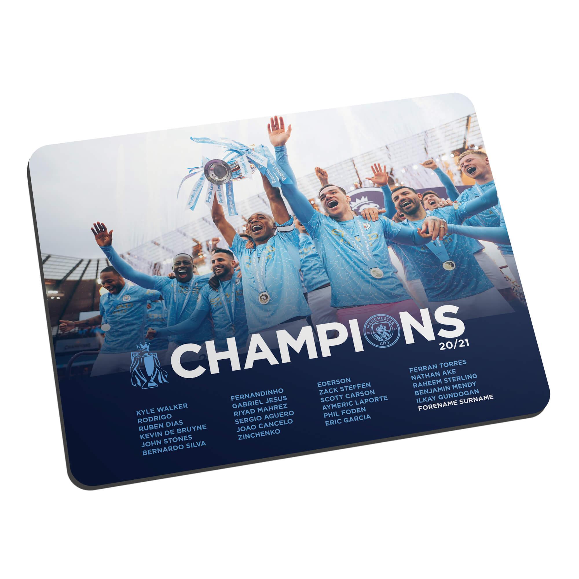 Manchester City FC Premier League Champions 2021 Team Photo Mouse Mat
