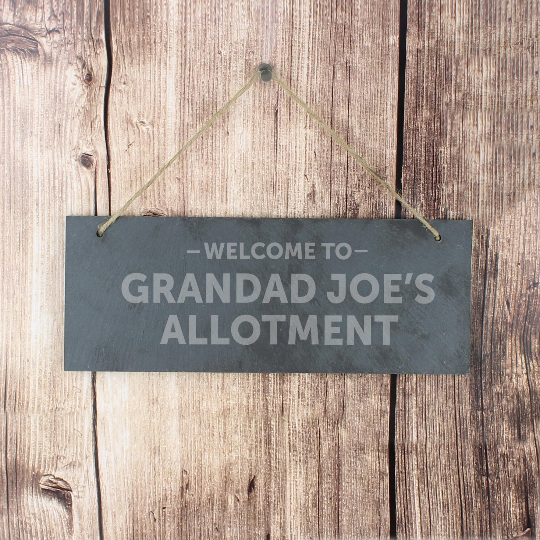 Engraved Welcome To... Slate Door Plaque