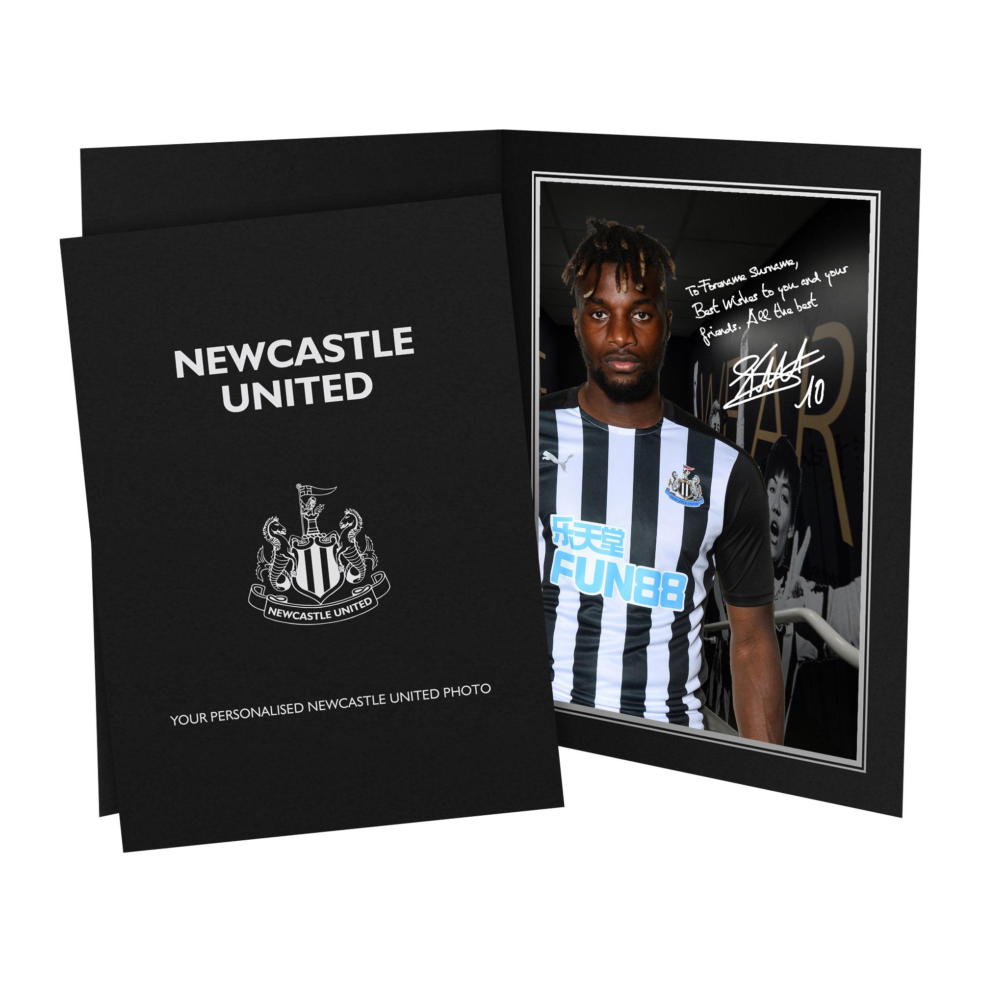 Newcastle United FC Saint-Maximin Autograph Photo Folder