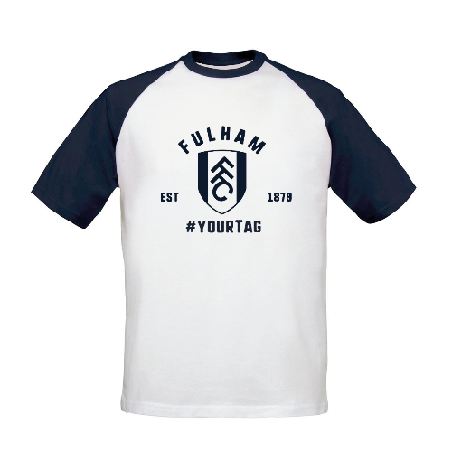 Fulham FC Vintage Hashtag Baseball T-Shirt