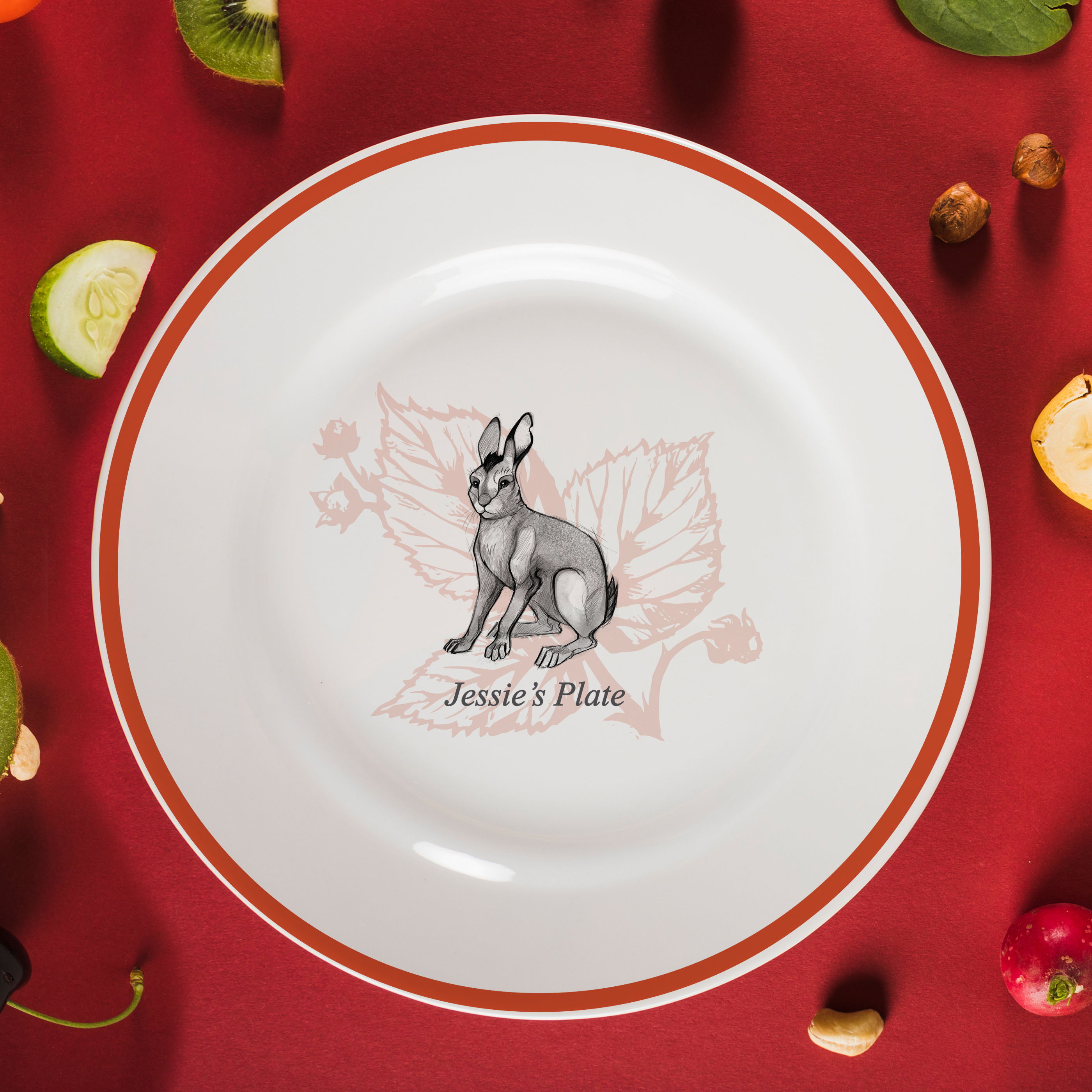 "Watership Down 8"" Rimmed Plate - Big Wig"