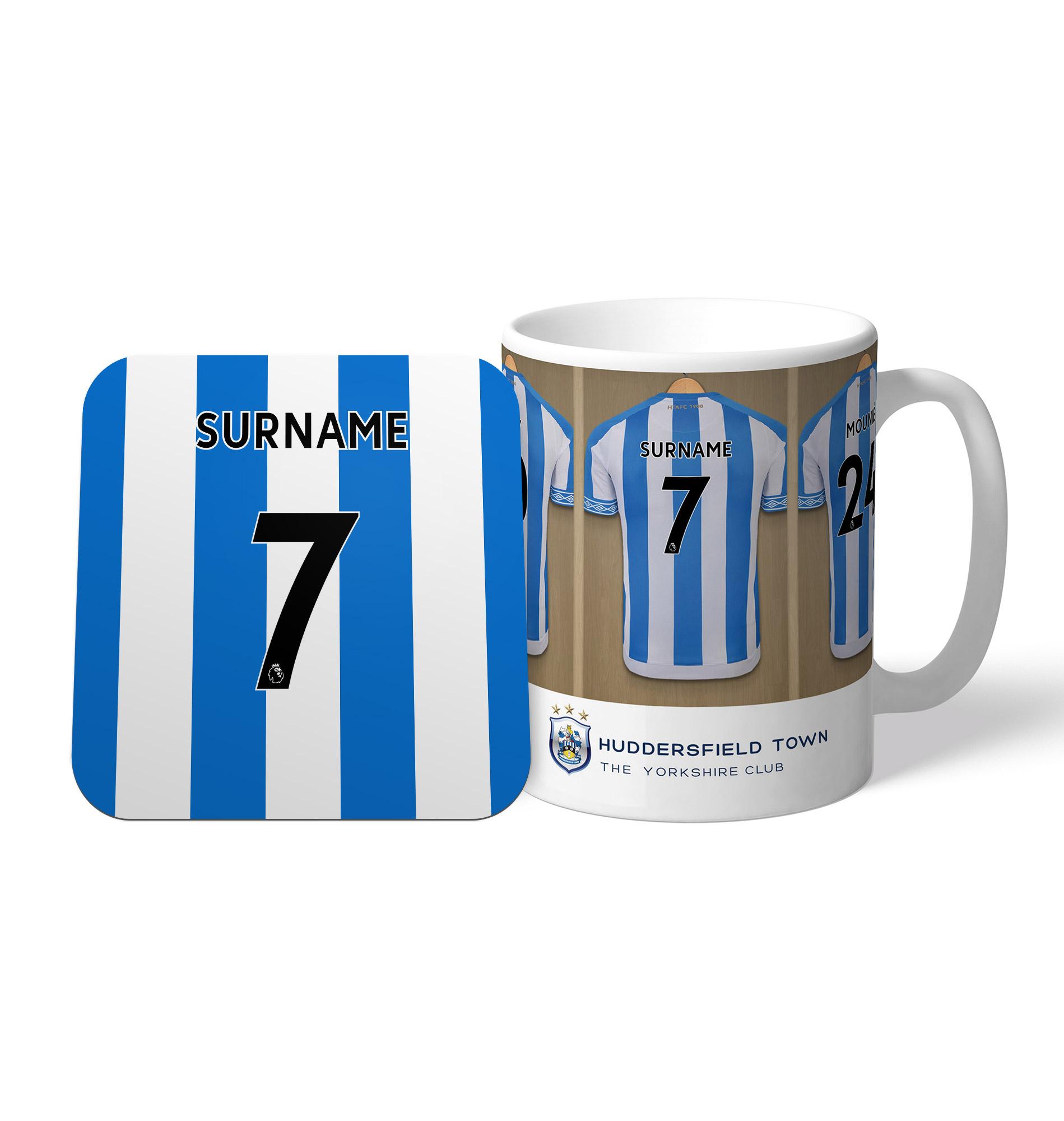 Huddersfield Town AFC Dressing Room Mug & Coaster Set