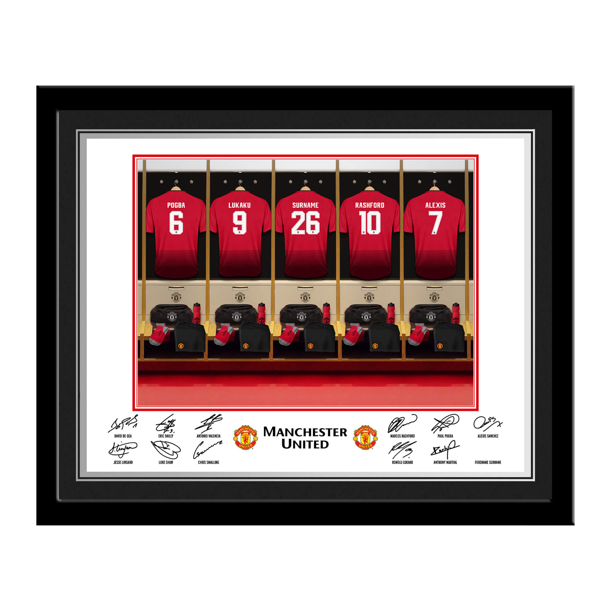 Manchester United FC Dressing Room Photo Framed