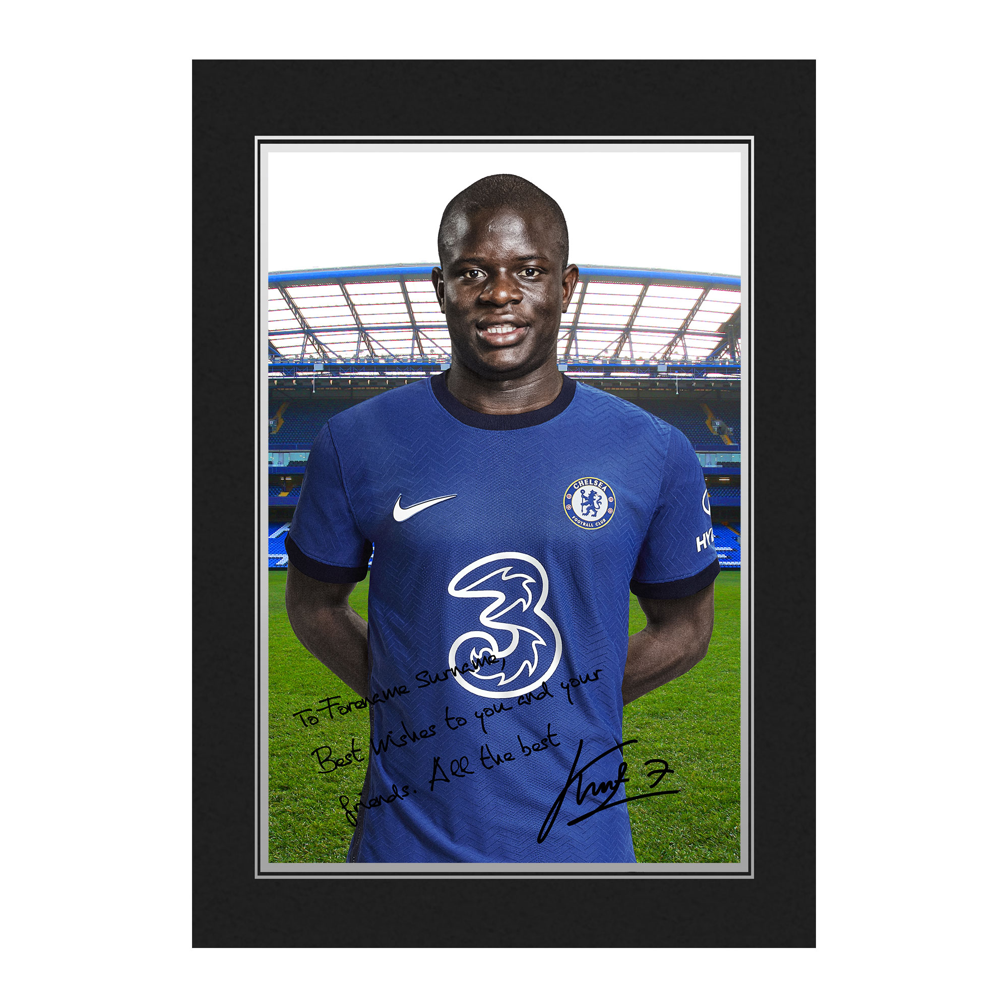 Chelsea FC Kante Autograph Photo Folder