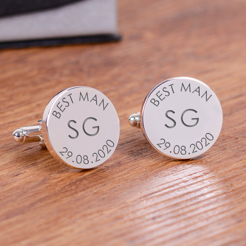 Wedding Party Role Cufflinks - Initials