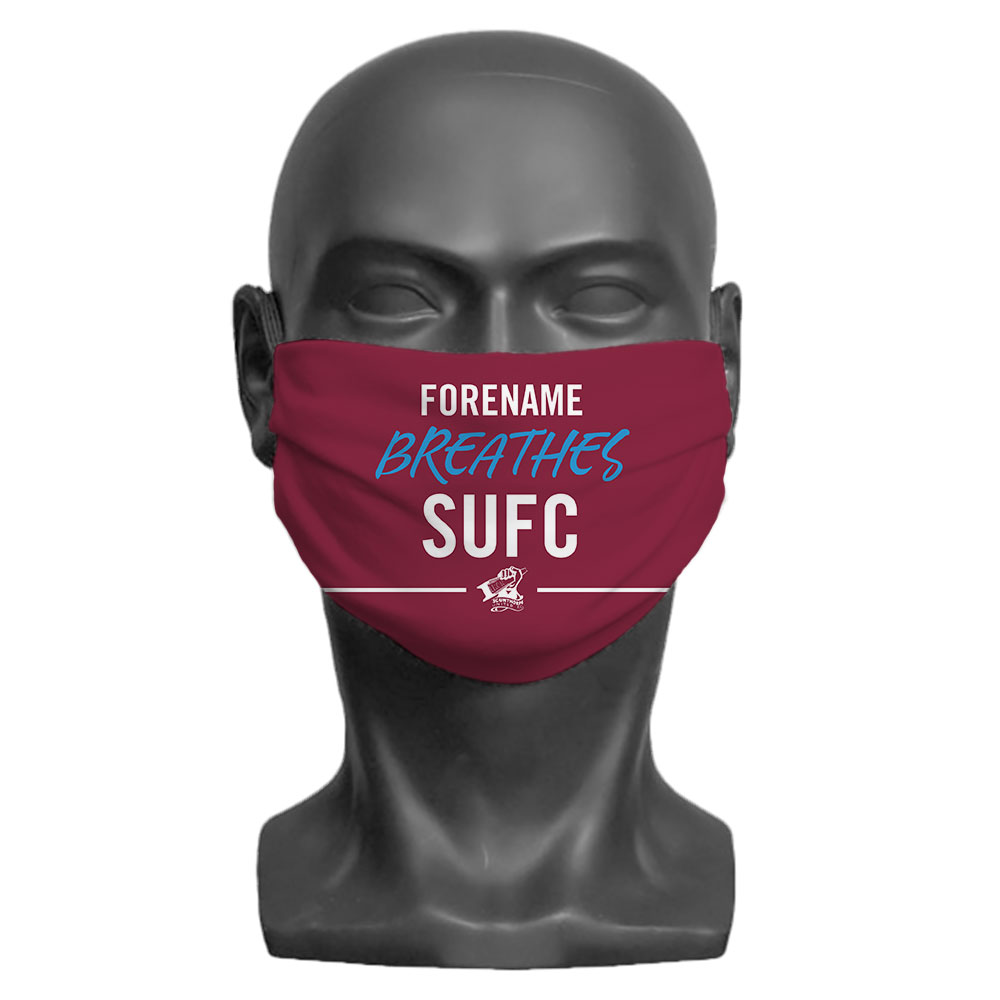 Scunthorpe United FC Breathes Adult Face Mask (Medium)