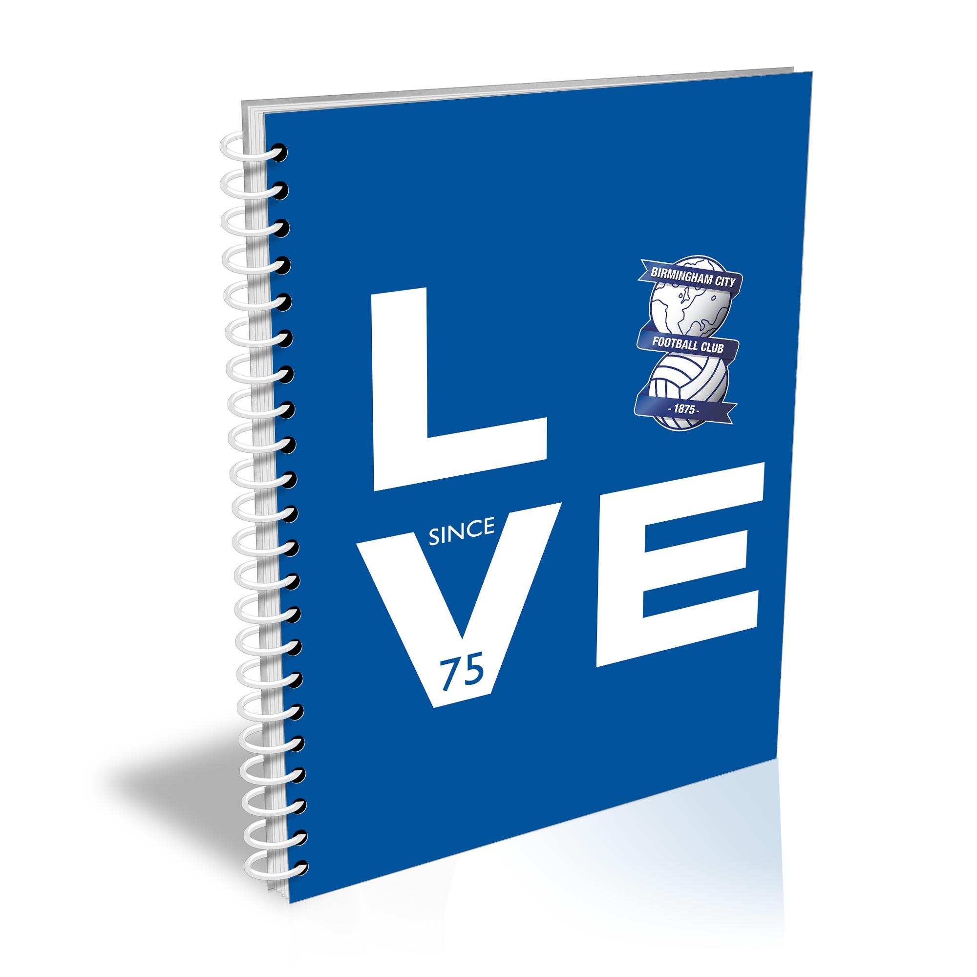 Birmingham City Love Notebook