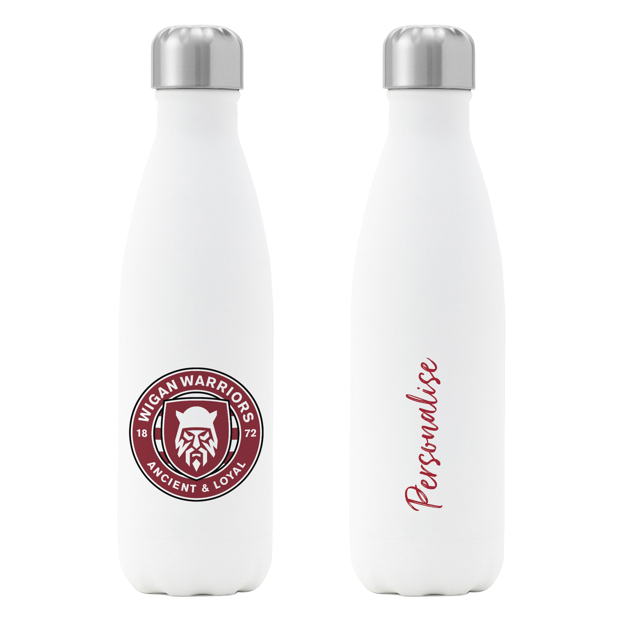 Wigan Warriors Crest Insulated Water Bottle - White