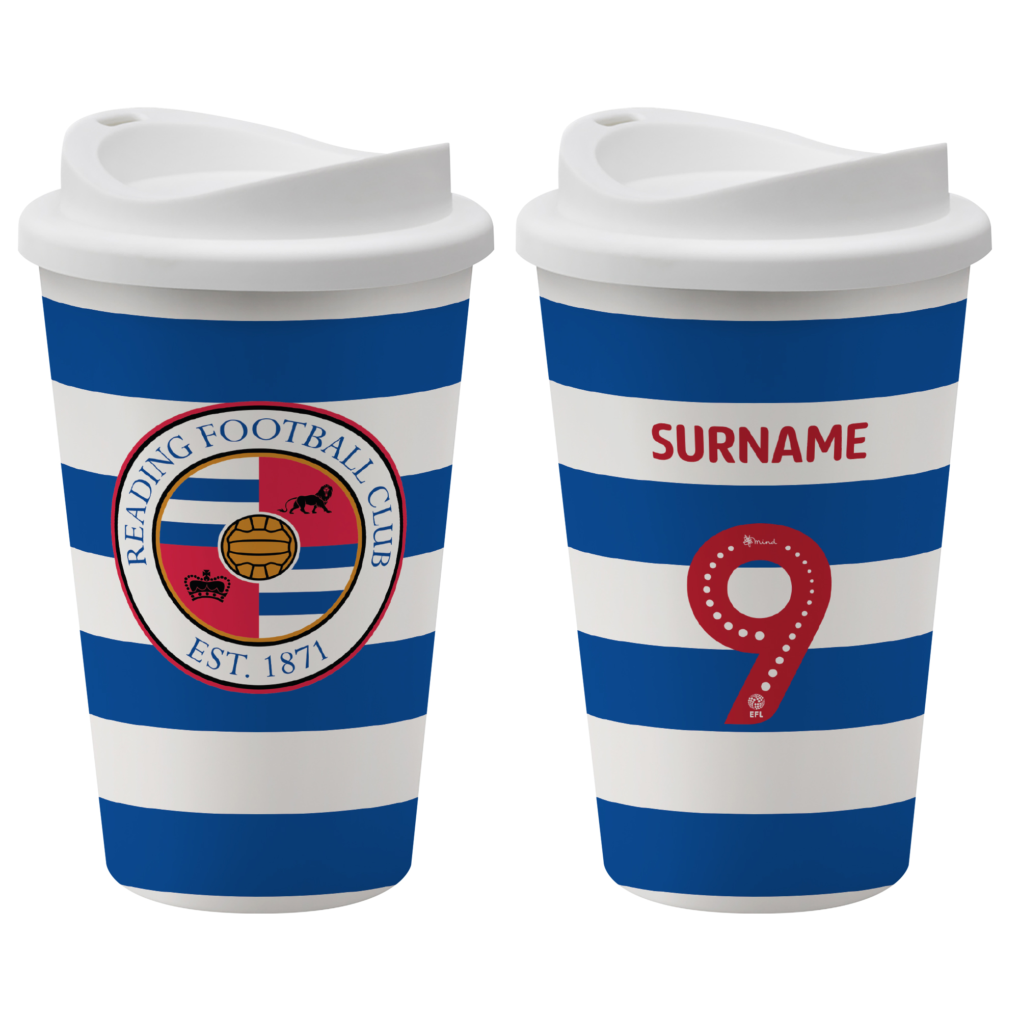 Reading FC Back of Shirt Reusable Cup