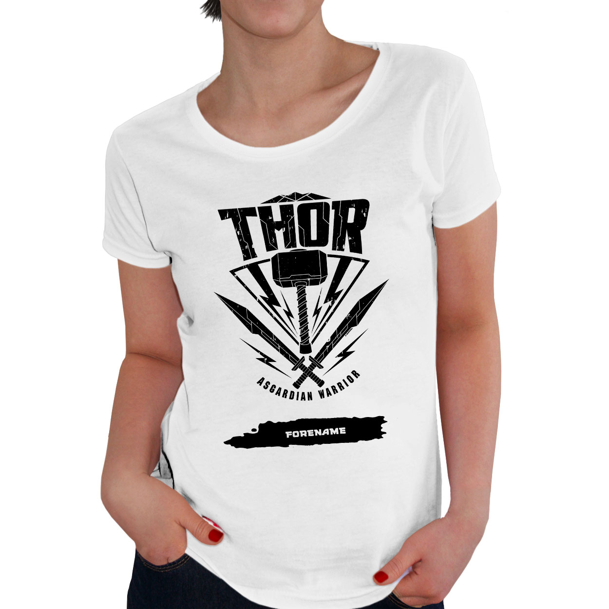 Marvel Thor Ragnarok Thor Badge Ladies T-Shirt