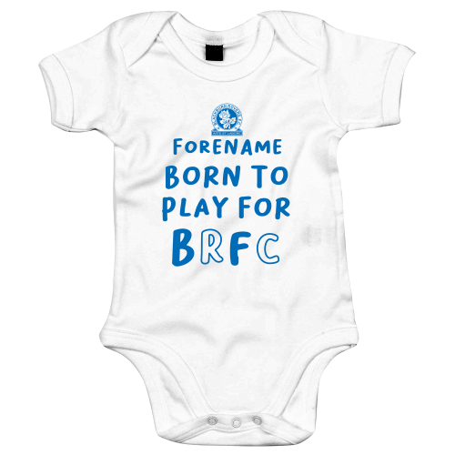 Blackburn Rovers FC Born to Play Baby Bodysuit