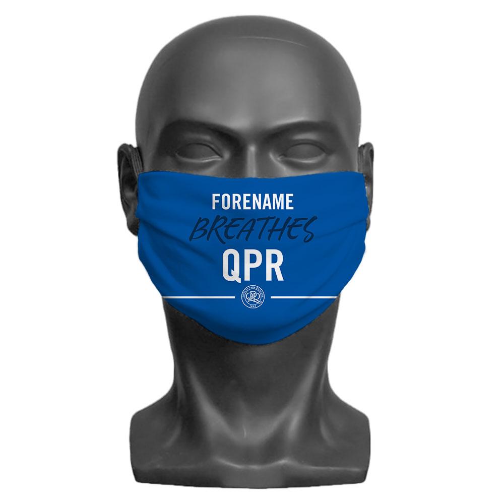 Queens Park Rangers FC Breathes Adult Face Mask (Medium)