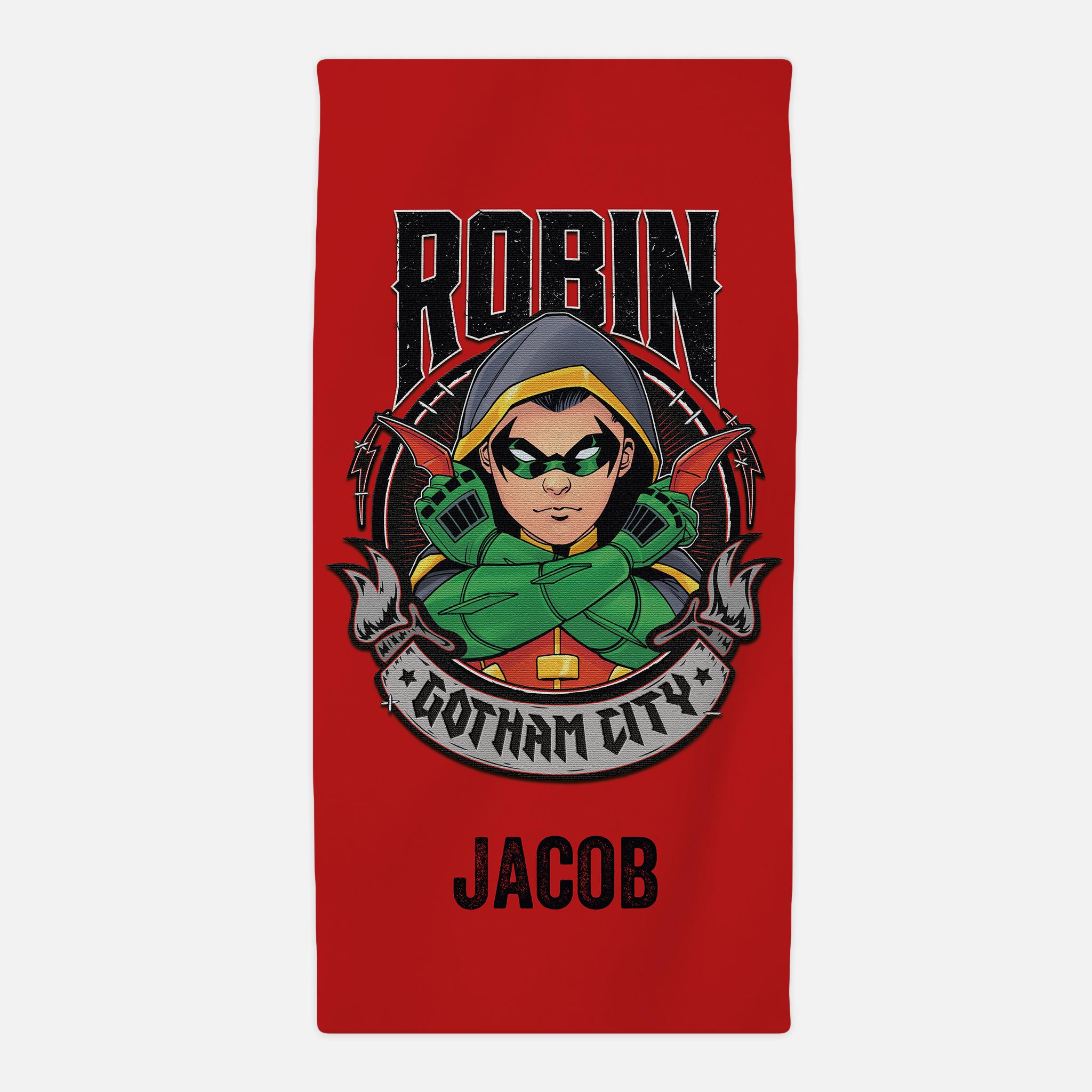 Team Batman Robin Beach Towel