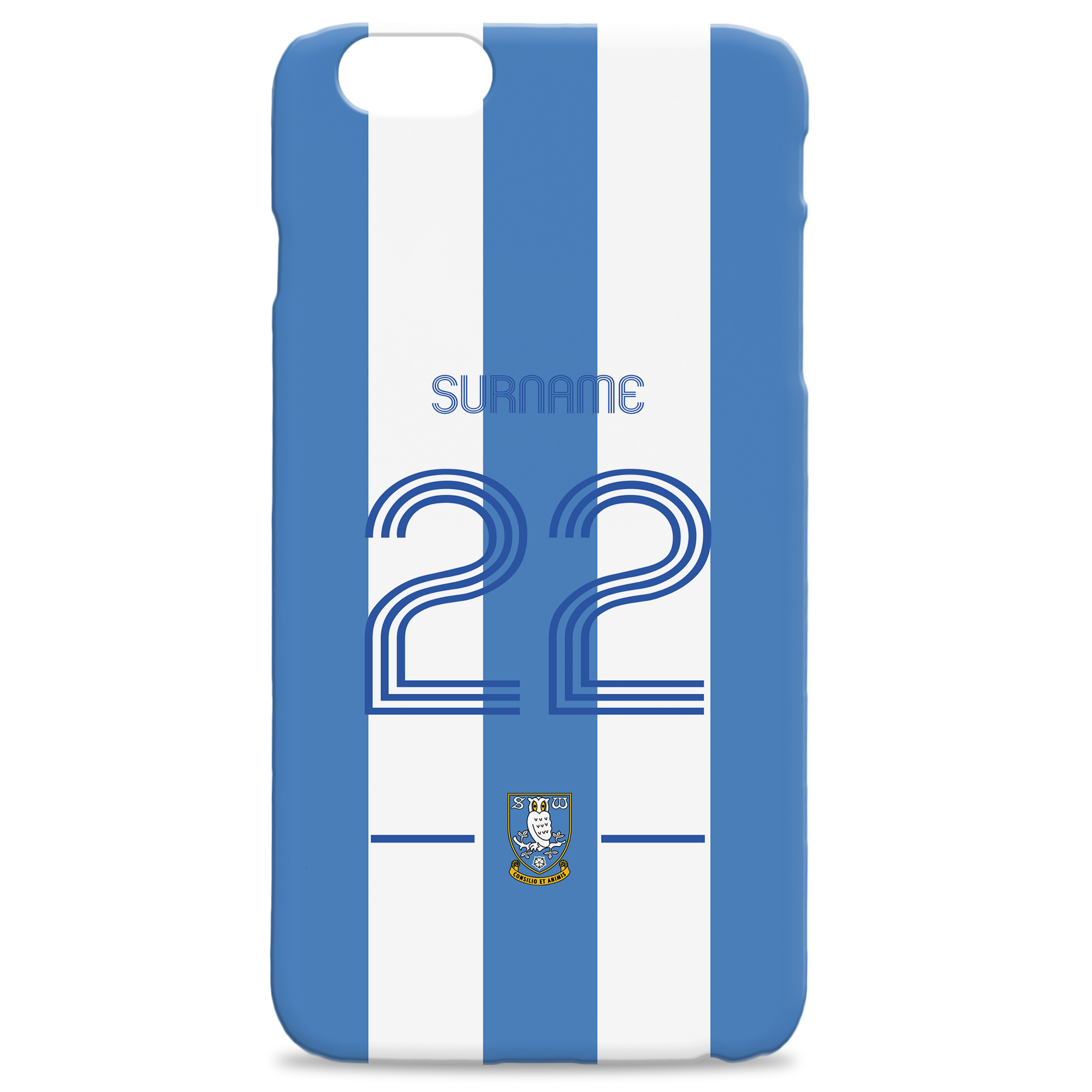 Sheffield Wednesday Retro Shirt Hard Back Phone Case