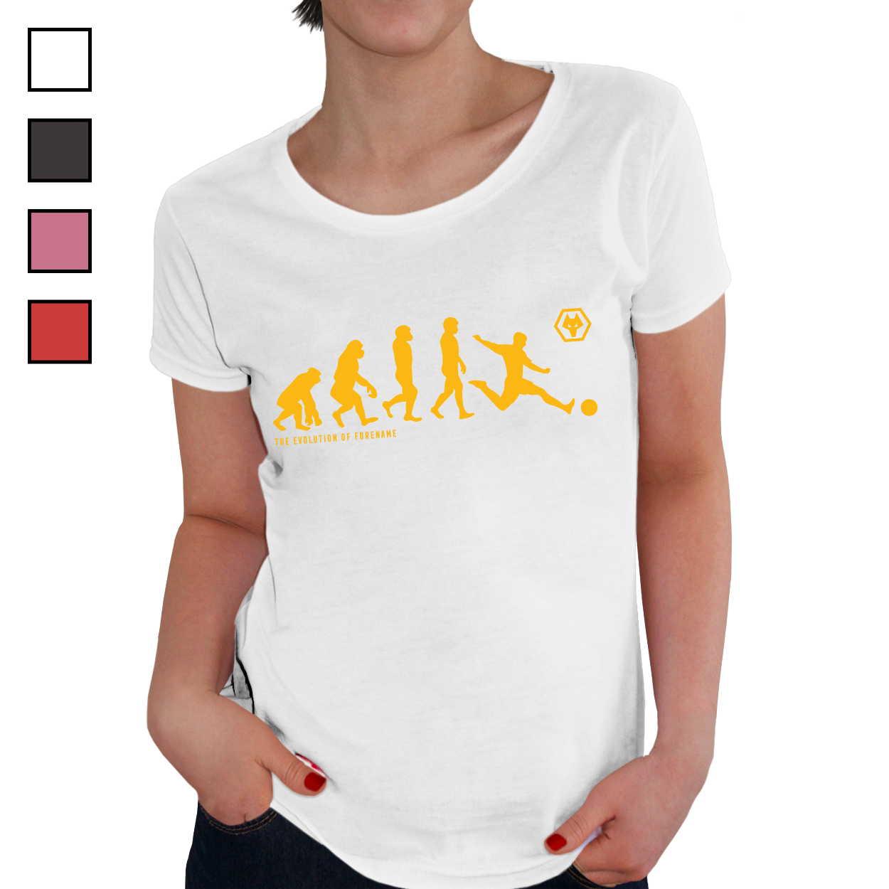 Wolverhampton Wanderers FC Evolution Ladies T-Shirt
