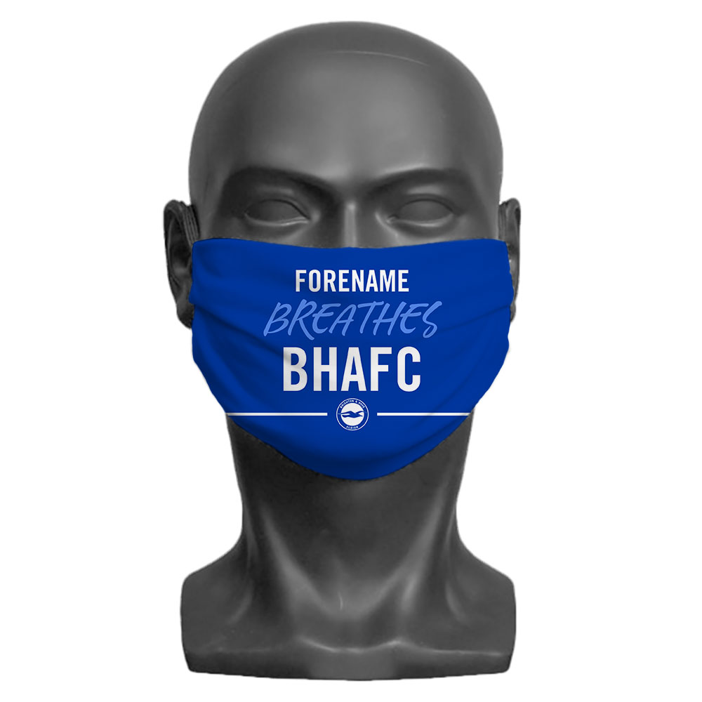 Brighton & Hove Albion FC Breathes Adult Face Mask (Medium)