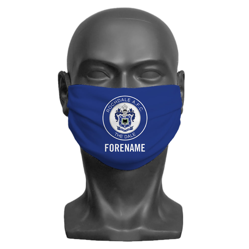Rochdale AFC Crest Adult Face Mask (Large)