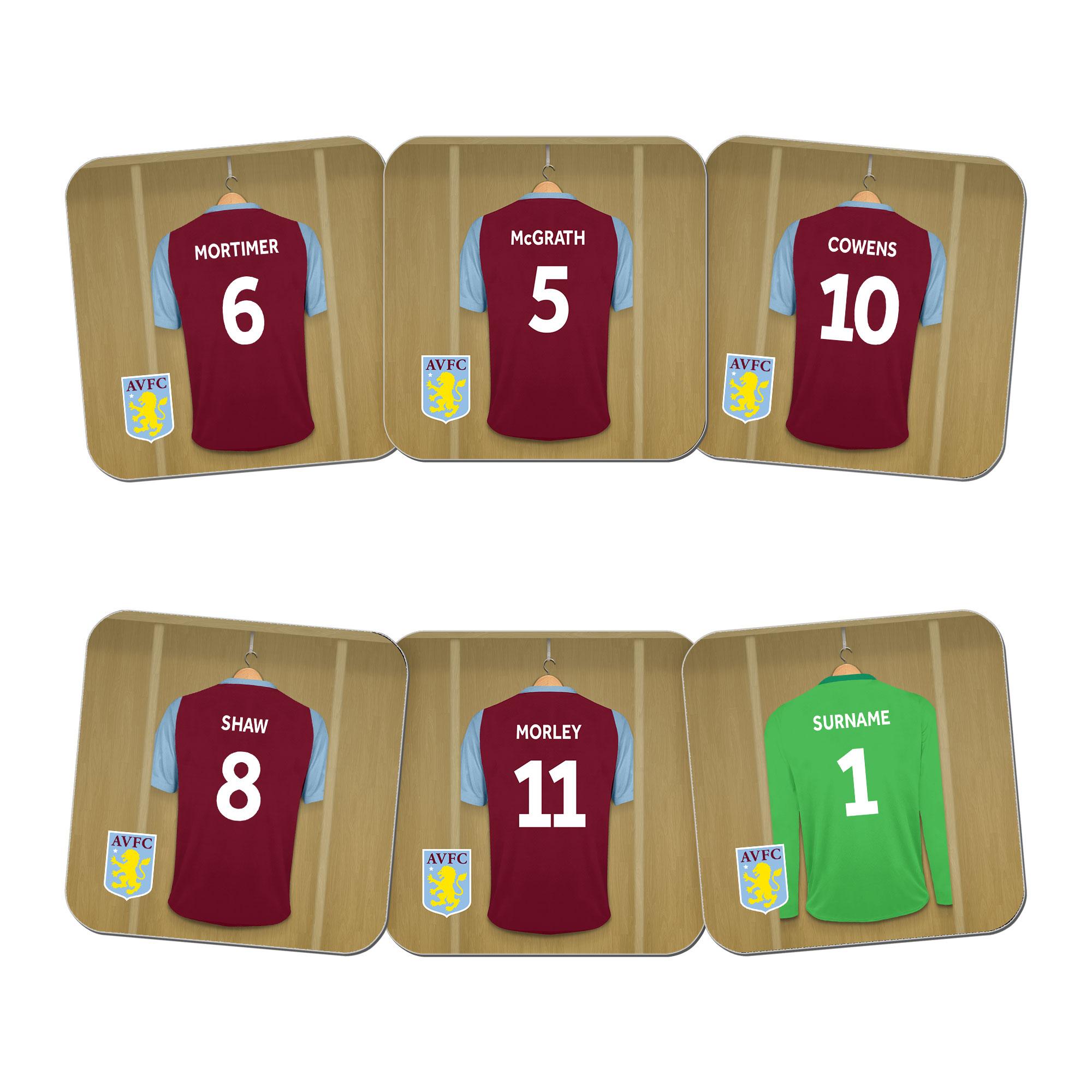 Aston Villa FC Legends Goalkeeper Dressing Room Coasters