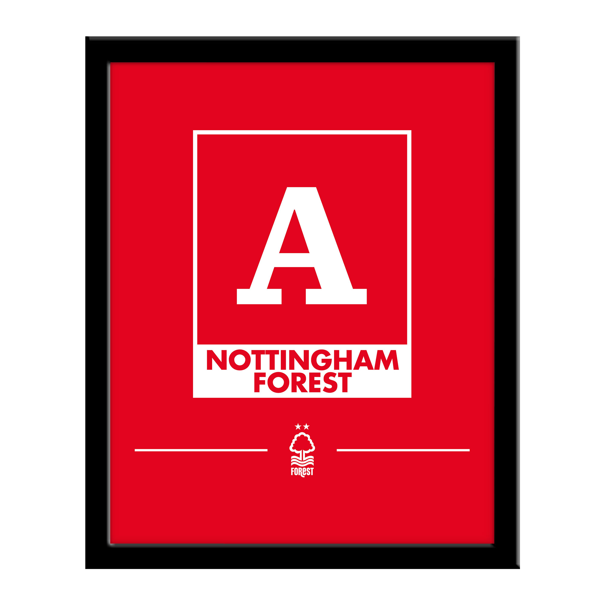 Nottingham Forest FC Monogram 290 x 360 Framed Print