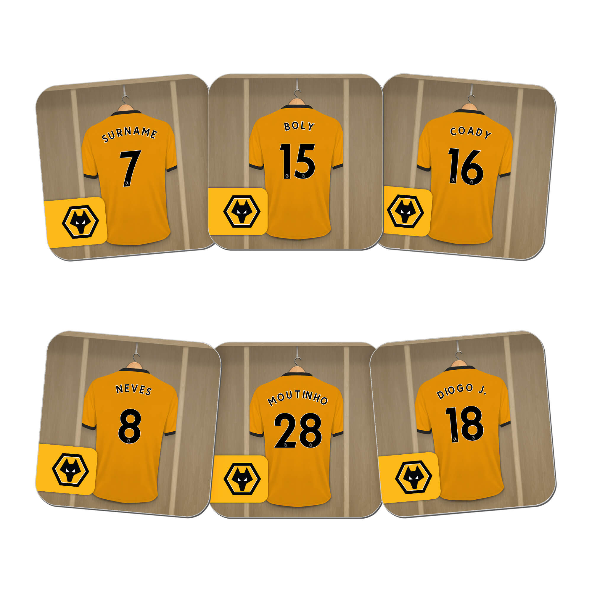 Wolves Dressing Room Coasters