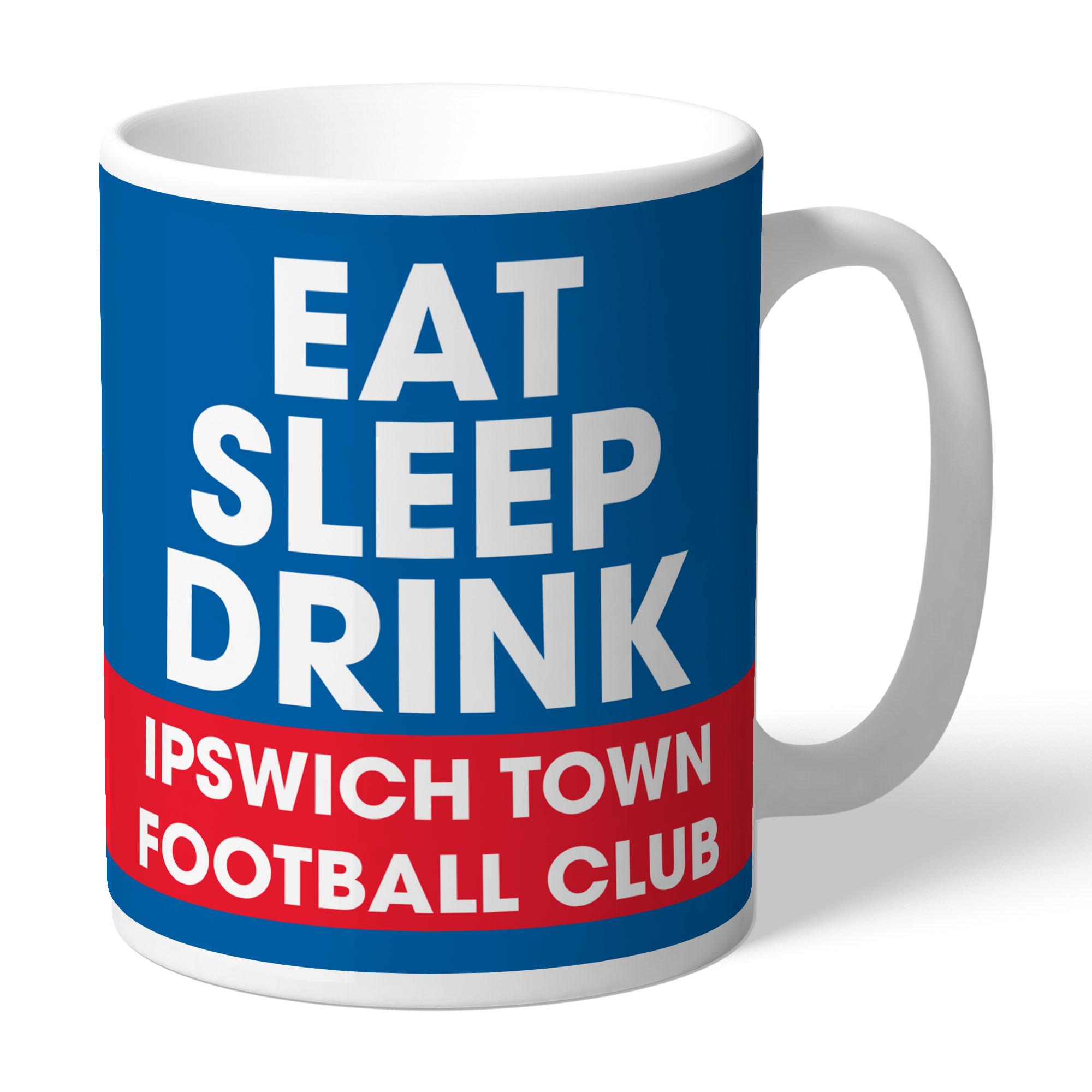 Ipswich Town FC Eat Sleep Drink Mug