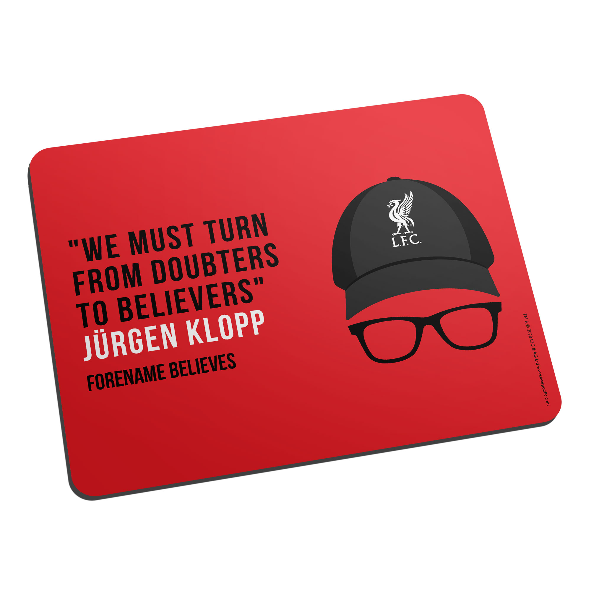 Liverpool FC Champions 2020 Klopp Mouse Mat