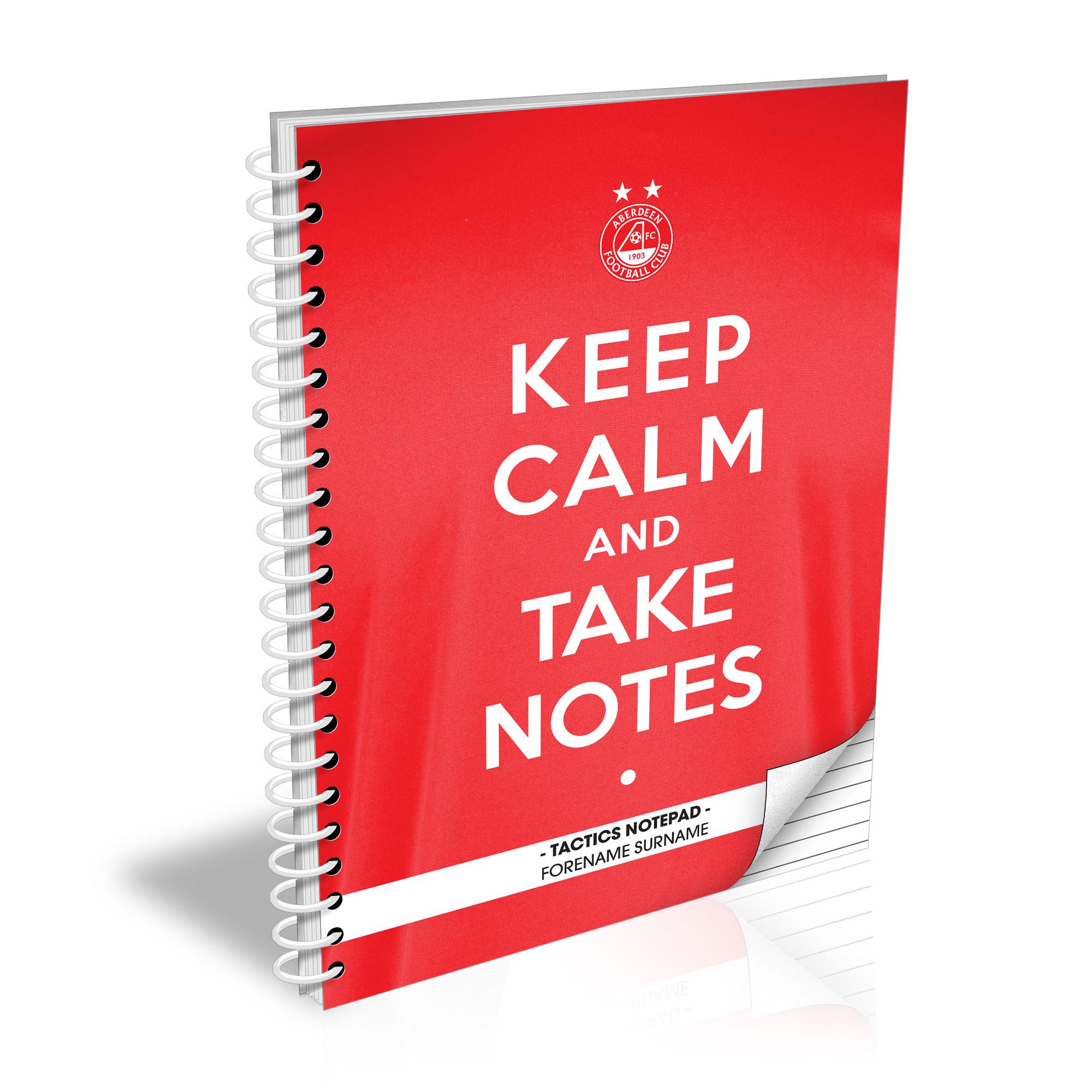 Aberdeen FC Keep Calm Notebook
