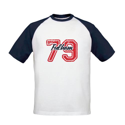 Fulham FC Varsity Number Baseball T-Shirt
