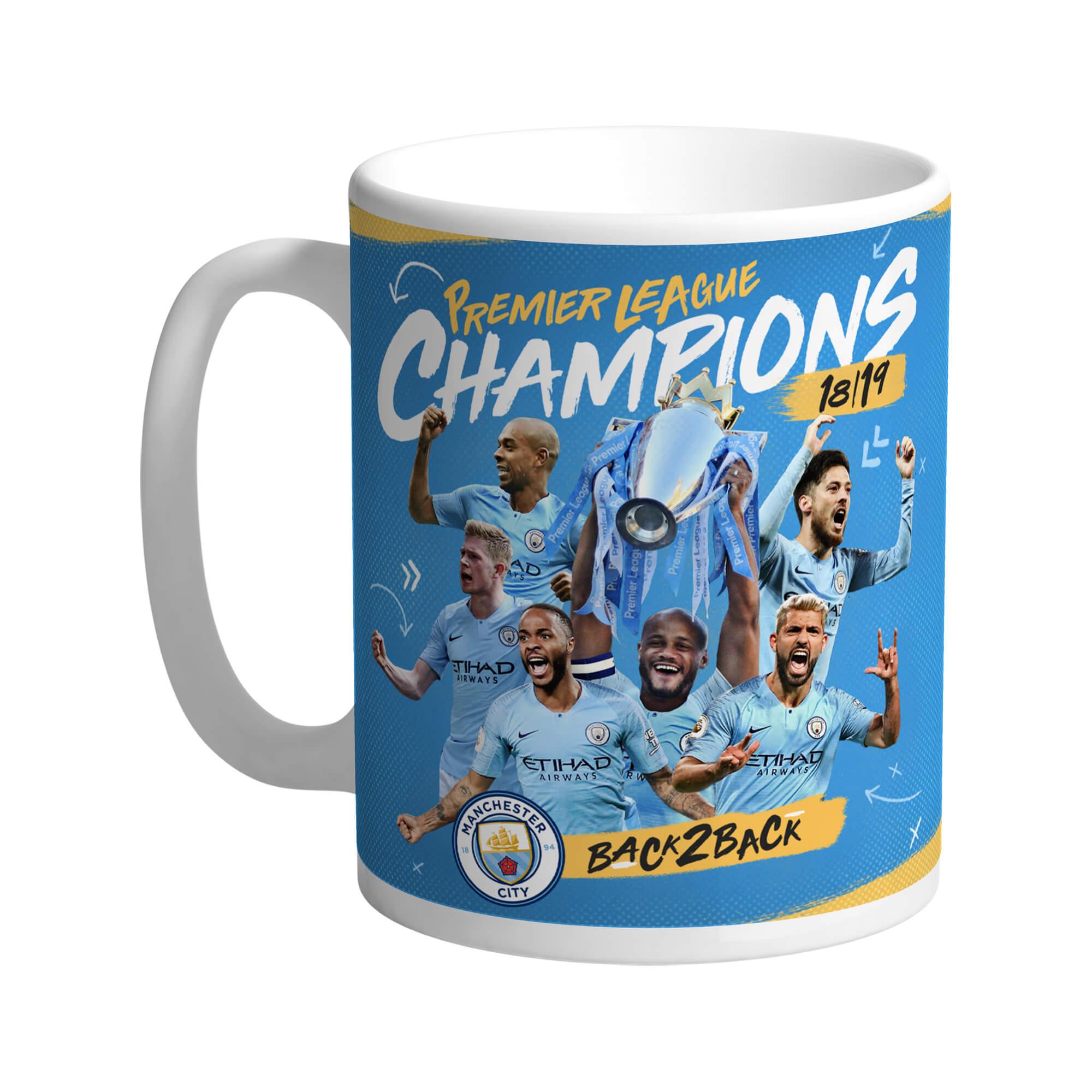 Manchester City FC Back 2 Back Champions Mug