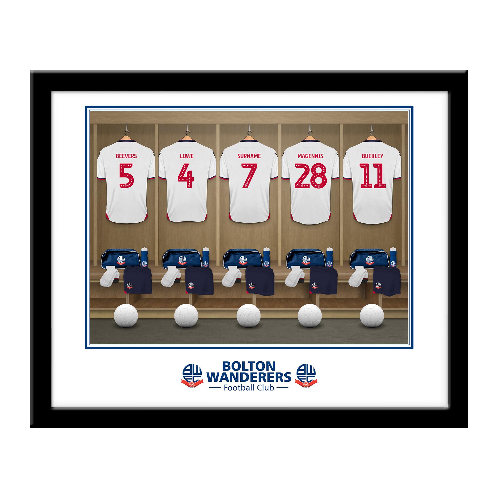 Bolton Wanderers FC Dressing Room Framed Print