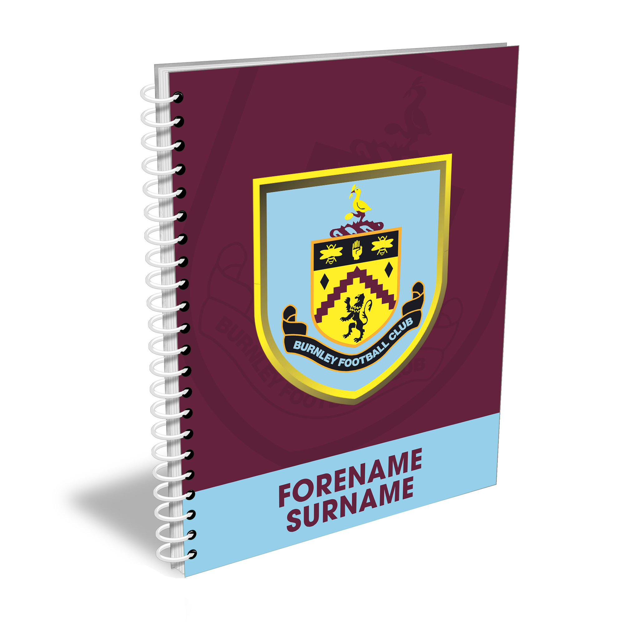 Burnley FC Bold Crest Notebook